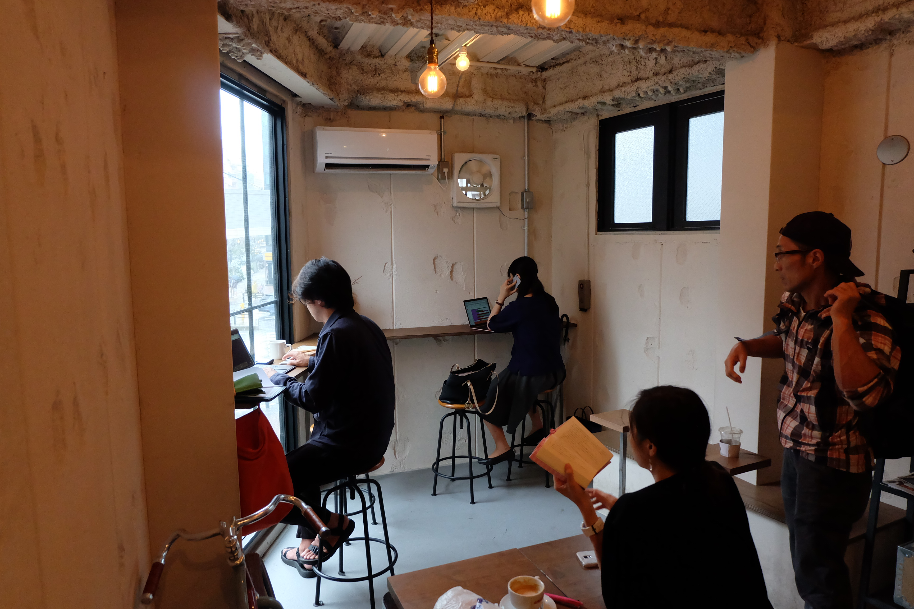 Interior Seating Counterpart Coffee Gallery Nishi Shinjuku Tokyo Japan