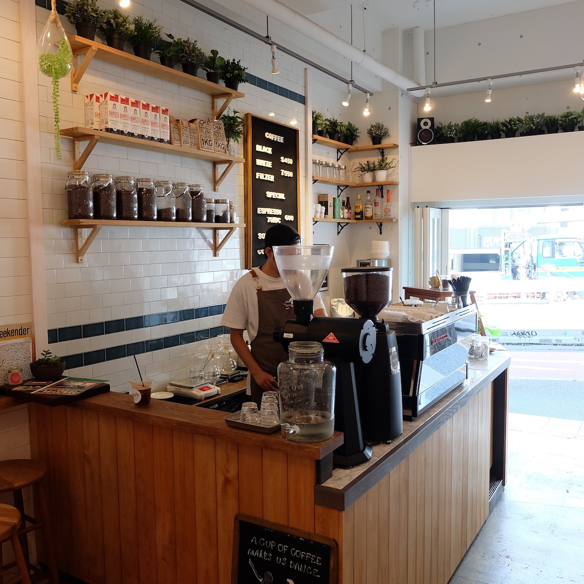 Interior Shot of Perch by Woodberry Coffee Roasters Tokyo Japan