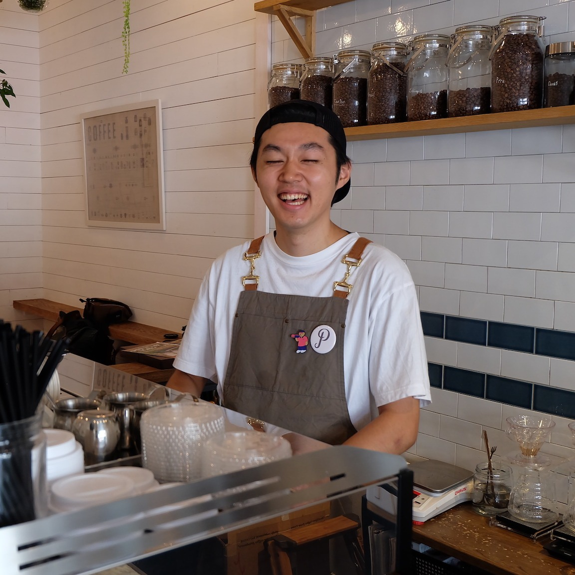 Barista Smiles at Perch by Woodberry Coffee Roasters Tokyo Japan